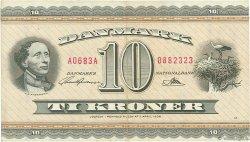 10 Kroner DANEMARK  1968 P.044v TTB+