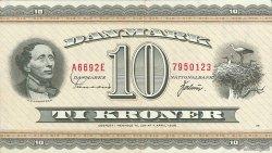 10 Kroner DANEMARK  1969 P.044y TTB+