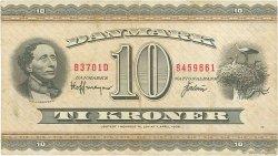 10 Kroner DANEMARK  1970 P.044aa TB