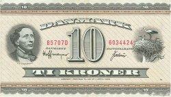 10 Kroner DANEMARK  1970 P.044aa TTB+