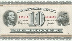 10 Kroner DANEMARK  1971 P.044aa SUP