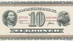 10 Kroner DANEMARK  1971 P.044aa TTB+