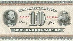 10 Kroner DANEMARK  1973 P.044ac SPL
