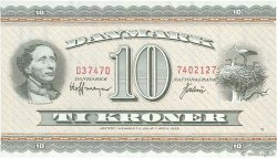 10 Kroner DANEMARK  1974 P.044ae NEUF