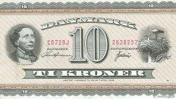 10 Kroner DANEMARK  1972 P.044r10 SUP