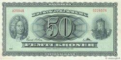 50 Kroner DANEMARK  1958 P.045d TTB