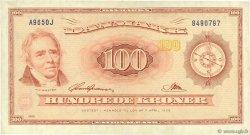 100 Kroner DANEMARK  1965 P.046r4 TTB