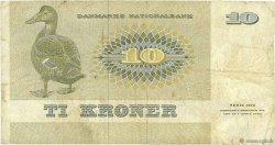 10 Kroner DANEMARK  1972 P.048a TB