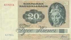 20 Kroner DANEMARK  1979 P.049a TB