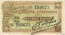5 Avos MACAO  1942 P.014 NEUF