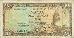 10 Patacas MACAO  1981 P.059b TB