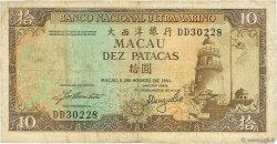 10 Patacas MACAO  1981 P.059d TB