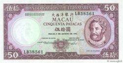 50 Patacas MACAO  1981 P.060b pr.NEUF