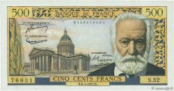 500 Francs VICTOR HUGO FRANCE  1955 F.35.04 SUP