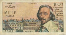 1000 Francs RICHELIEU FRANCE  1953 F.42.03 B