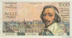 1000 Francs RICHELIEU FRANCE  1954 F.42.06 TTB