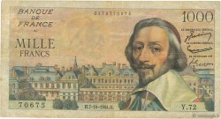 1000 Francs RICHELIEU FRANCE  1954 F.42.08 B+