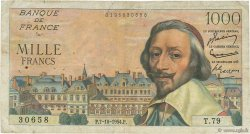 1000 Francs RICHELIEU FRANCE  1954 F.42.08 B