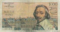 1000 Francs RICHELIEU FRANCE  1955 F.42.10 TB