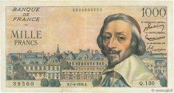 1000 Francs RICHELIEU FRANCE  1955 F.42.12 TB+