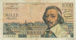 1000 Francs RICHELIEU FRANCE  1955 F.42.12