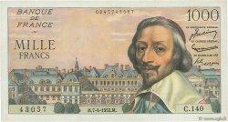 1000 Francs RICHELIEU FRANCE  1955 F.42.12 TTB+