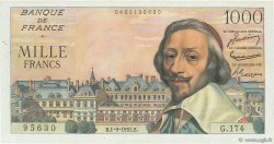 1000 Francs RICHELIEU FRANCE  1955 F.42.15 SUP