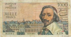 1000 Francs RICHELIEU FRANCE  1955 F.42.15 TB+