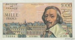 1000 Francs RICHELIEU FRANCE  1955 F.42.15 SUP