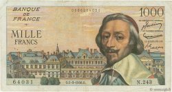 1000 Francs RICHELIEU FRANCE  1956 F.42.19 pr.TB