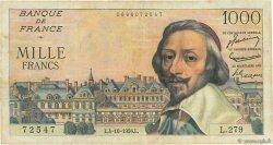 1000 Francs RICHELIEU FRANCE  1956 F.42.22 TB