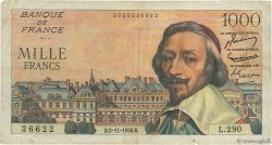 1000 Francs RICHELIEU FRANCE  1956 F.42.23 B+