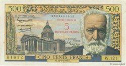 5 NF sur 500 Francs Victor HUGO FRANCE  1959 F.52.02 TB+