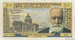 5 Nouveaux Francs VICTOR HUGO FRANCE  1959 F.56.02 TB+