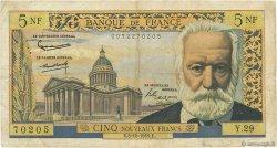 5 Nouveaux Francs VICTOR HUGO FRANCE  1959 F.56.04 B+