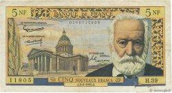 5 Nouveaux Francs VICTOR HUGO FRANCE  1960 F.56.05 B+