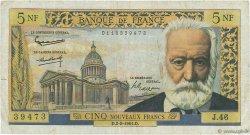 5 Nouveaux Francs VICTOR HUGO FRANCE  1961 F.56.06 pr.TB