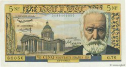 5 Nouveaux Francs VICTOR HUGO FRANCE  1962 F.56.10 TTB+