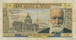 5 Nouveaux Francs VICTOR HUGO FRANCE  1962 F.56.12 B