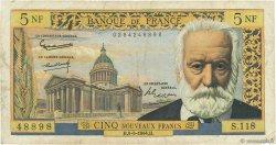 5 Nouveaux Francs VICTOR HUGO FRANCE  1964 F.56.15 B+