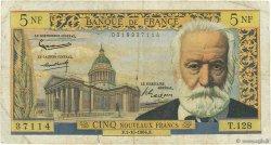 5 Nouveaux Francs VICTOR HUGO FRANCE  1964 F.56.16 B+