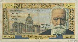 5 Nouveaux Francs VICTOR HUGO FRANCE  1965 F.56.18 B+