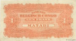 1 Franc CONGO BELGE  1914 P.03B TTB+