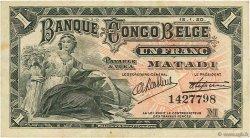1 Franc CONGO BELGE  1920 P.03B TTB+