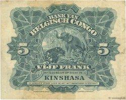 5 Francs CONGO BELGE  1920 P.04A pr.TTB