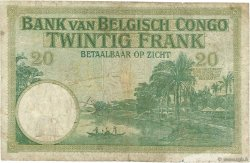 20 Francs CONGO BELGE  1937 P.10f B