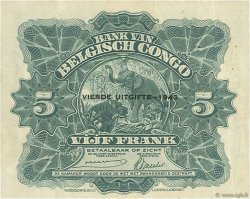 5 Francs CONGO BELGE  1943 P.13Ab TTB+