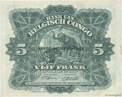 5 Francs CONGO BELGE  1947 P.13Ad SUP+
