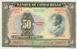 50 Francs CONGO BELGE  1948 P.16f TTB+