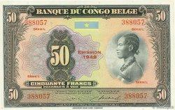 50 Francs CONGO BELGE  1949 P.16g SPL